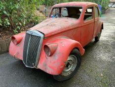 1938 Lancia Aprilia Series 1 Saloon project Chassis no. 382799