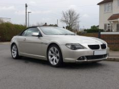 2005 BMW 630i Convertible Chassis no. WBAEK2070B740693