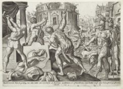 DE JODE (GERARD, PUBLISHER) [Thesaurus Sacrarum Historiarum veteris [-Novi] testamenti], 2 parts ...