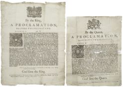 SCOTLAND - ROYAL BROADSIDE PROCLAMATIONS By the Queen, a Proclamation, for a Publick Thanksgiving...