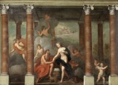 Attributed to Sir James Thornhill (Dorset 1675-1734 Stalbridge) Modello for a mythological mural,...