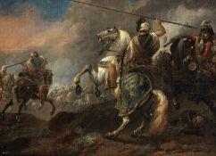 Jan Wyck (Haarlem circa 1652-1700 Mortlake) A Saracen on horseback before a cavalry skirmish; and...