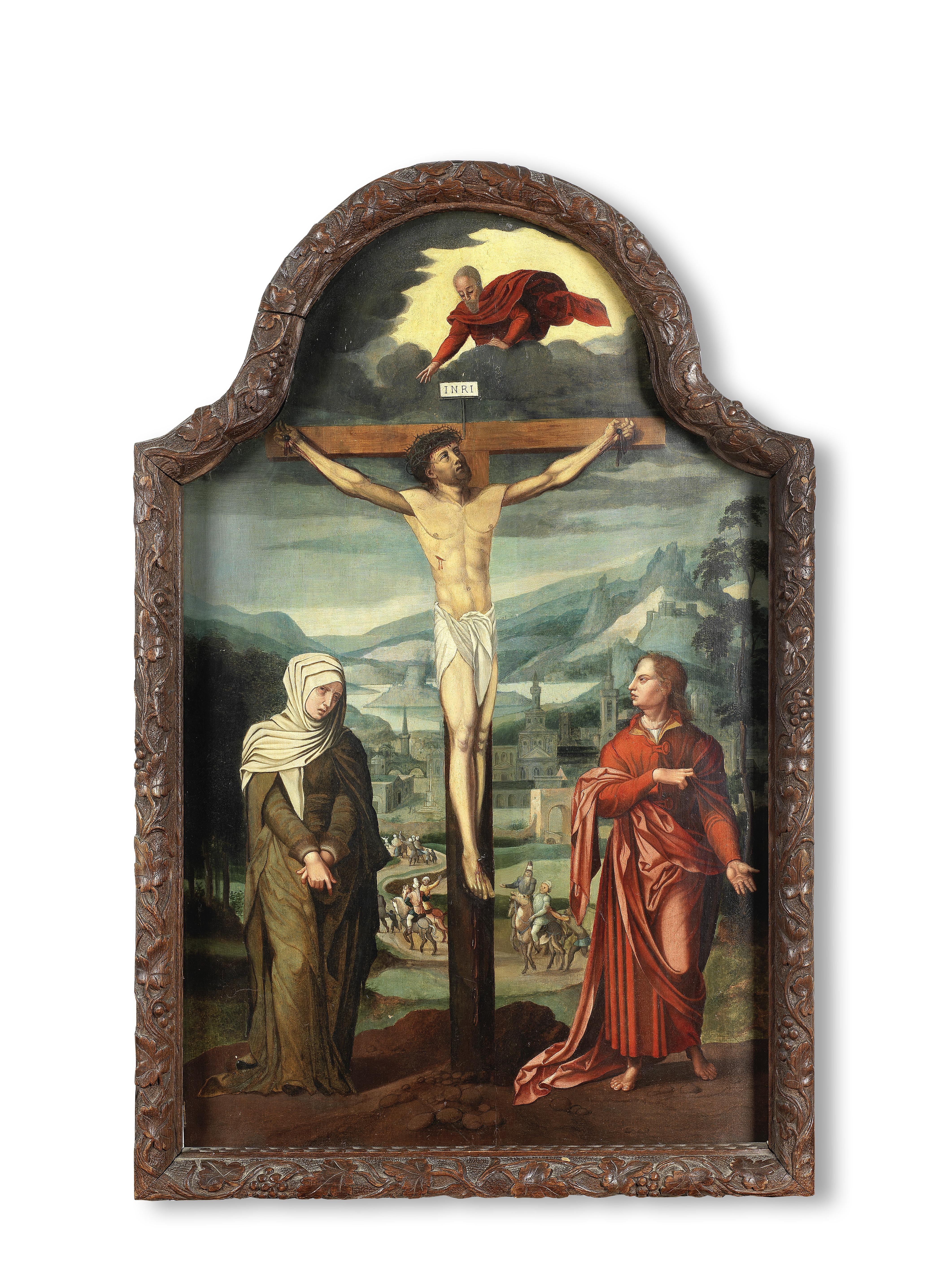 Follower of Lambert Lombard (Liege 1506-1566) The Crucifixion