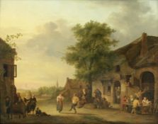 Petrus Johann van Regemorter (Antwerp 1755-1830) Figures outside an inn