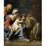 Bartolomeo Schedoni (Modena 1578-1615 Parma) The Holy Family with Saint Francis unframed