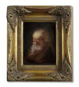 Follower of Rembrandt Harmensz. van Rijn (Leiden 1606-1669 Amsterdam) The head of a bearded man