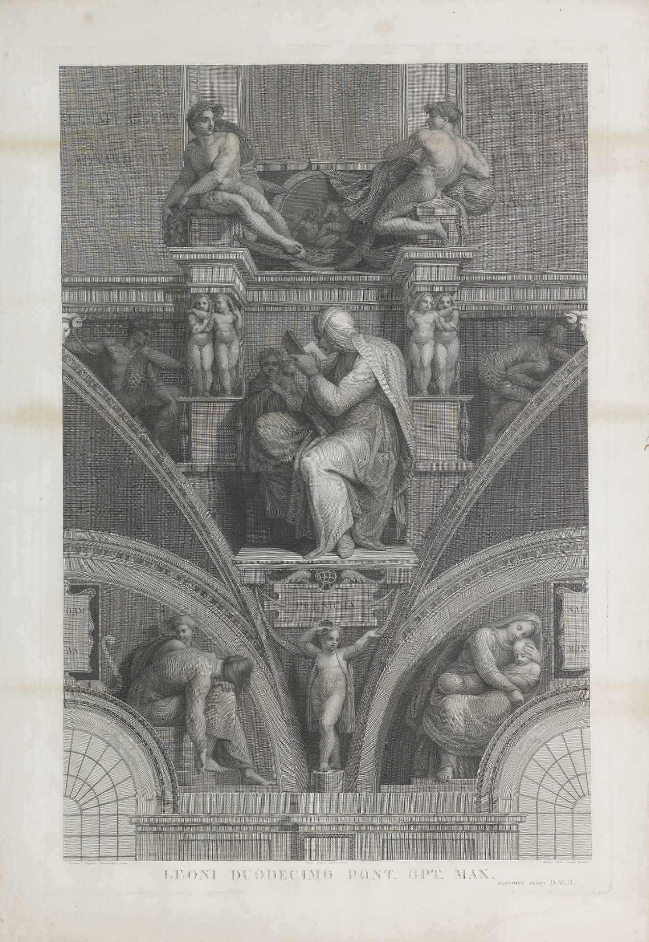 Giorgio Ghisi after Michelangelo Prophets and Sybils in the Pendentives of the Sistine Chapel Cei...