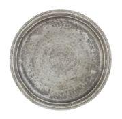 A Charles II pewter narrow rim plate, circa 1680