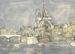 Sir Kyffin Williams R.A. (British, 1918-2006) Notre Dame, Winter