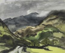Sir Kyffin Williams R.A. (British, 1918-2006) Snowdon From The South