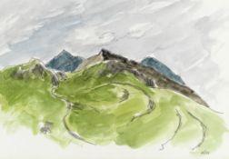 Sir Kyffin Williams R.A. (British, 1918-2006) Snowdon Farm, Pen y Pass