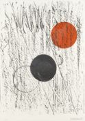 Dame Barbara Hepworth (British, 1903-1975) Sun and Moon Lithograph printed in colours, 1969, on w...