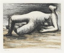Henry Moore O.M., C.H. (British, 1898-1986) Reclining Nude, from 'Sketchbook 1980' Etching and aq...