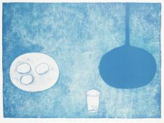 William Scott R.A. (British, 1913-1989) Blue Still Life Lithograph printed in colours, 1975, on w...