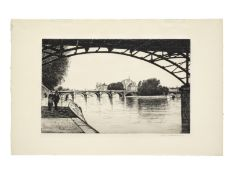Christopher Richard Wynne Nevinson A.R.A. (British, 1889-1946) La Cité, Paris Etching, 1926-...