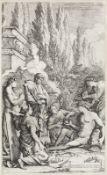 Salvator Rosa (Italian, 1615-1673) The Genius of Salvator Rosa; Democritus in Meditation Two etch...