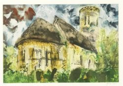 John Piper C.H. (British, 1903-1992) Hales, Norfolk Etching and aquatint printed in colours, 1989...