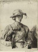 Gerald Leslie Brockhurst R.A., R.P., R.E. (British, 1890-1978) Le Casaquin de Laine (The Linen Ja...