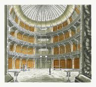 Edward Bawden R.A. (British, 1903-1989) The Coal Exchange Lithograph printed in colours, 1963, on...