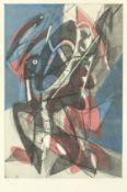 Stanley William Hayter (British, 1901-1988) Combat Etching and aquatint printed in colours, 1953,...
