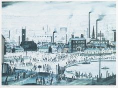 Laurence Stephen Lowry R.A. (British, 1887-1976) An Industrial Town Offset lithograph printed in ...