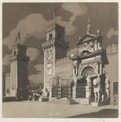 Sir Claude Francis Barry R.B.A. (British, 1883-1970) Entrance to the Arsenal, Venice Etching and ...