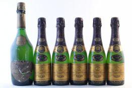 Veuve Clicquot Rosé 1978 (1) Veuve Clicquot 1979 (8 half-bottles) Boizel, Joyau de France 19...