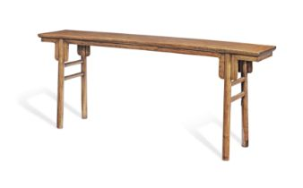 A LARGE HUANGHUALI RECESSED-LEG PAINTING TABLE, HUA AN