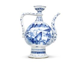 A BLUE AND WHITE EWER FOR THE ISLAMIC MARKET Kangxi