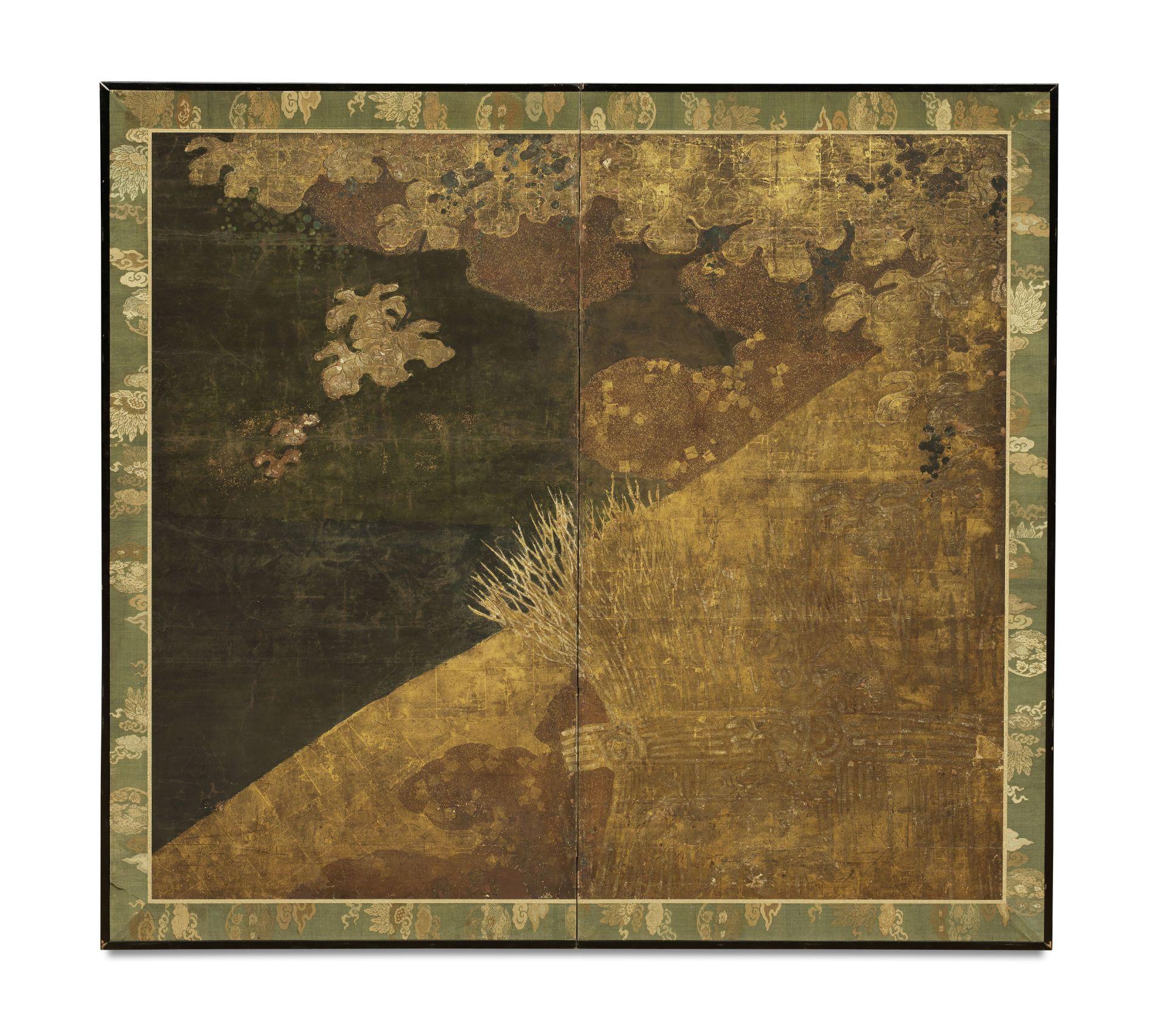 ANONYMOUS Brushwood Fence Beneath Fruiting Vine, Edo Period (1615-1868), 17th/18th century
