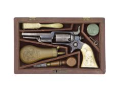 A Cased Colt-Root 1855 Model (2) Percussion Side-Hammer Pocket Revolver