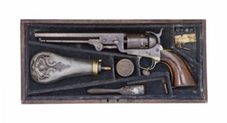 A Cased Colt 1851 Model Navy Percussion Revolver