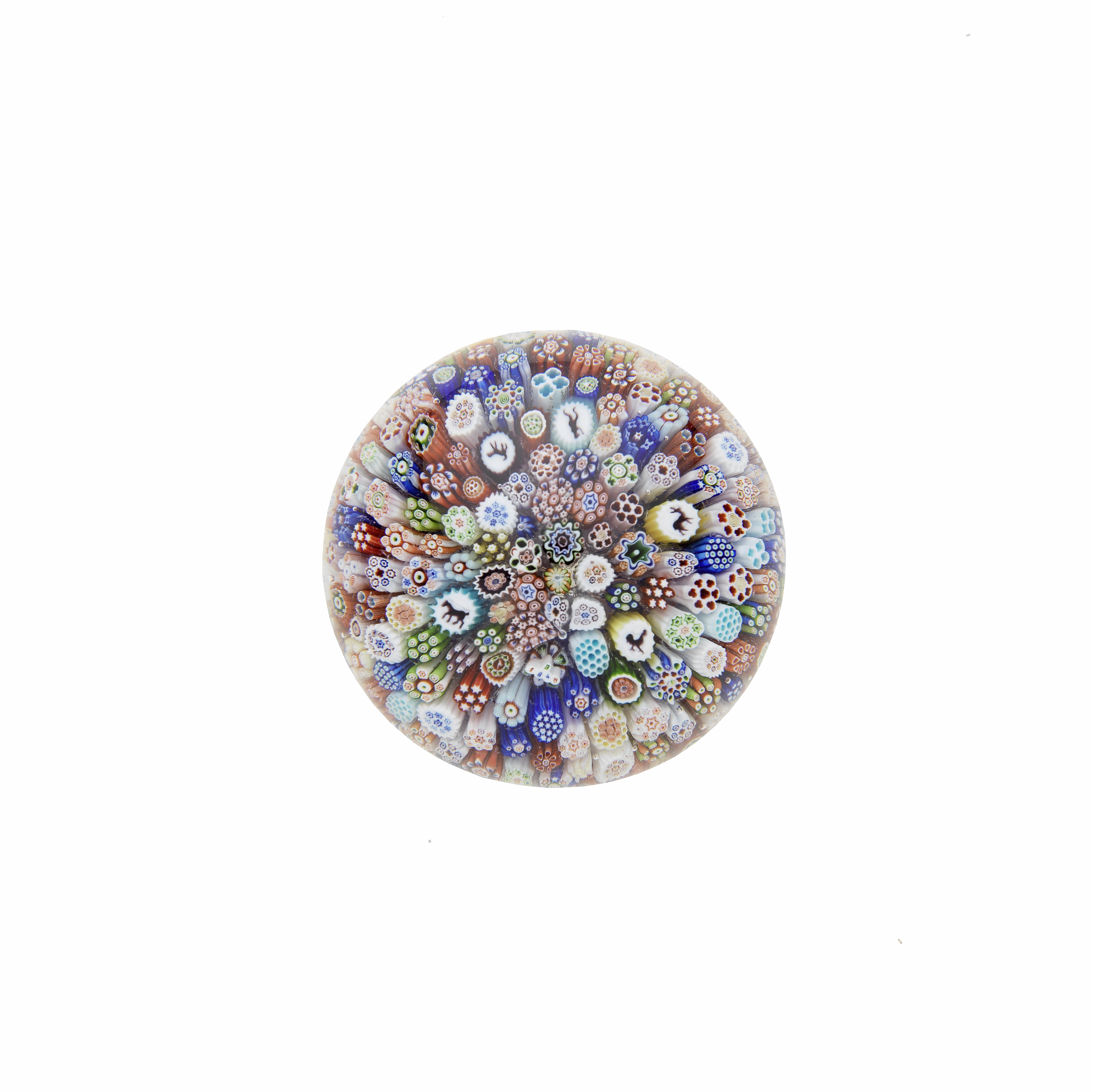 A Baccarat close-packed millefiori paperweight, dated 1848