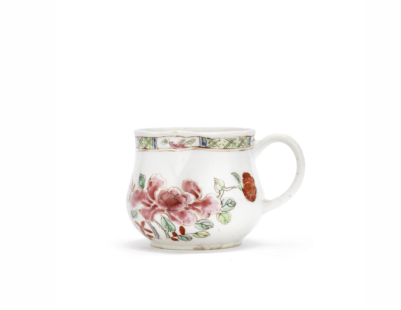 A very rare Bow cream jug, circa 1753