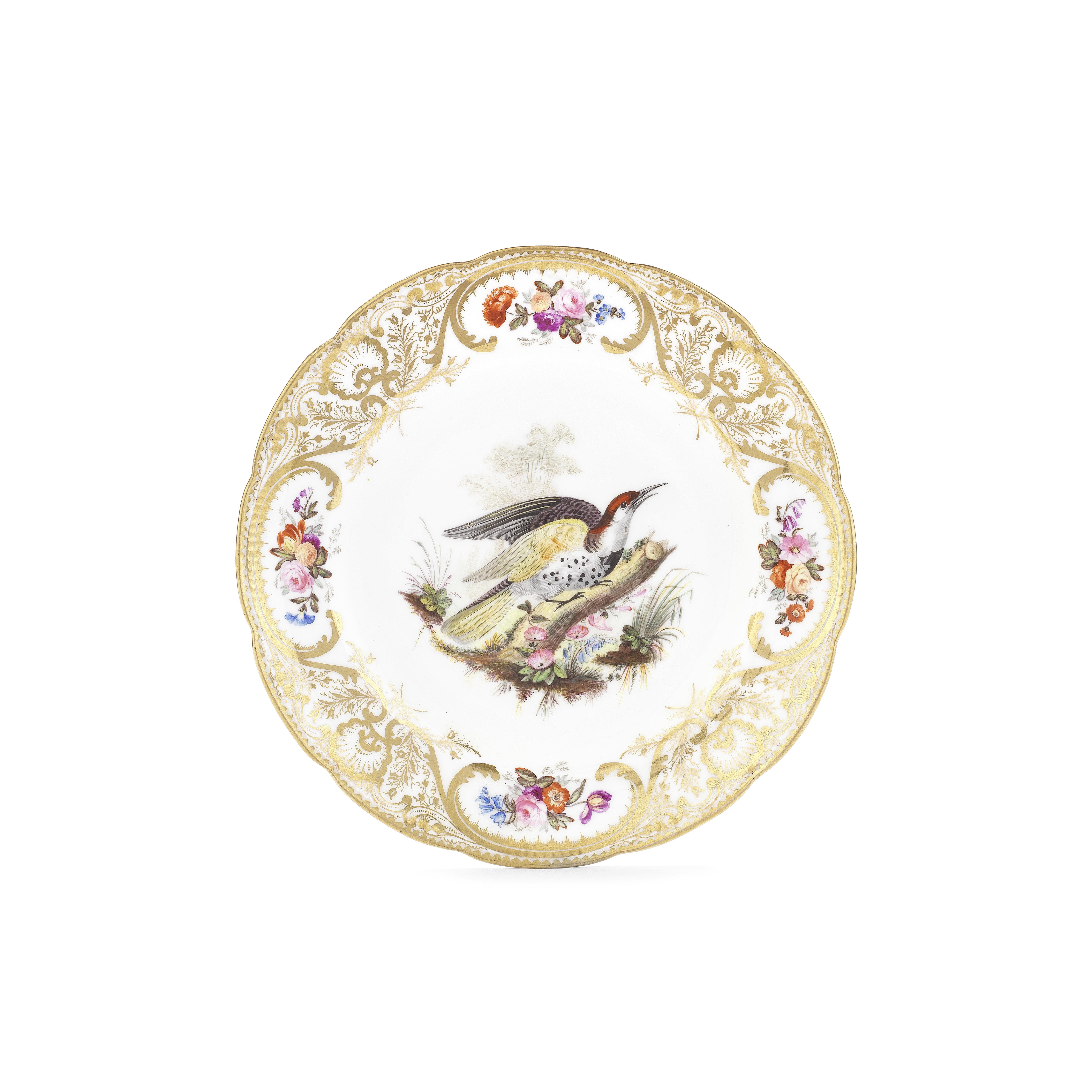 A good Nantgarw plate of Mackintosh type, circa 1818-20