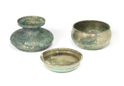 THREE BRONZE VESSELS Tang Dynasty (3)