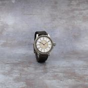 Longines. A fine, rare and historically interesting stainless steel manual wind pilots hour angle...