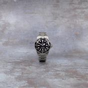 Rolex. A rare stainless steel automatic calendar bracelet watch Double Red Sea Dweller, Ref: 166...