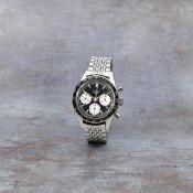Heuer. A stainless steel manual wind chronograph bracelet watch Autavia 'Jochen Rindt', Ref: 244...