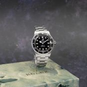 Rolex. A stainless steel automatic bracelet watch with Tiffany signed dial Submariner, Ref: 5513...