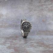 Omega. A stainless steel manual wind chronograph bracelet watch Speedmaster, Ref: 145.012 ST, Ci...