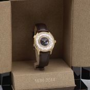 Patek Philippe. A fine and rare Limited Edition lady's 18K rose gold and diamond set World Time w...