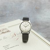 Patek Philippe. A fine and rare stainless steel manual wind wristwatch Ref: 2509 A, Manufactured ...