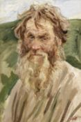 Arkadiy Alexandrovich Plastov (Russian, 1893-1972) Portrait of an elderly bearded gentleman