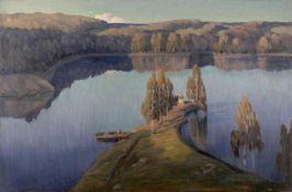 Petr Nikolaevich Vagner (Russian, 1862-1932) A chapel on Lake Ladoga