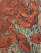 Nikolai Aleksandrovich Tarkhov (Russian, 1871-1930) Poppies with study for the painting Maternit&...