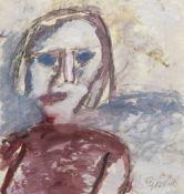 Vladimir Igorevich Yakovlev (Russian, 1934-1998) Woman with blue eyes