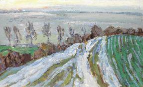 Nikolai Petrovich Gluschenko (Ukranian, 1901-1977) Last snow