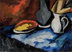 David Burliuk (Russian/American, 1882-1967) Morning still life