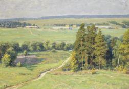 Titov Dmitry Vasilievich (Russian, 1915-1975) Summer landscape